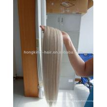 Schuß des blonden Haares des menschlichen Platins 100%