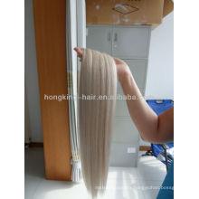 100% human platinum blonde hair weft