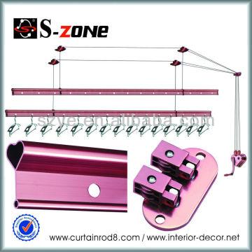 SZ12-03 Copper cloth rack designs movable clothes rack heavy duty rolling clothes rack