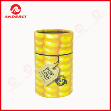 Popcorn Kernels Packaging Paper Tube Customized Printing
