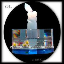 Bougeoir en cristal populaire Z011