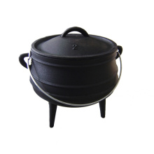 Cast Iron Pot-bụng kích thước 2 Potjie nồi 3 chân