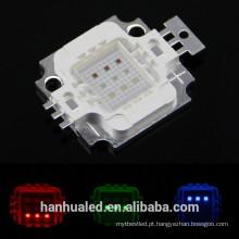 Grânulos integrados do diodo emissor de luz do poder superior de 10W RGB 900mA 9-12VLED