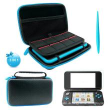 Für Nintend Switch 2DS XL Nintendo 2DSXL LL Displayschutzfolie mit Touch Pen und Aufbewahrungsbox Hard Case Schutzhülle