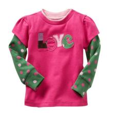 Fashion Baby O-Neck Long Sleeve Shirt, Tees, Sweaters in Baby Clothes Sq-17104