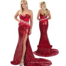 платье блестки красный и черный блестками без бретелек вечернее платье вечернее платье с стразы Группа RO11-21