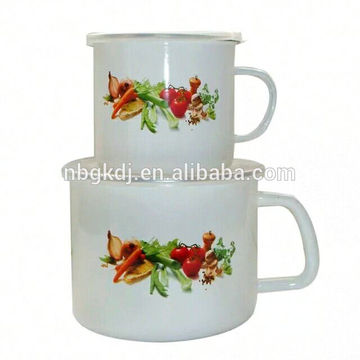 Colored Promotional Top Quality custom enamel milk mug