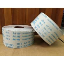 Rollo de tela abrasivo flexible multipropósito JB-5 para uso en aceros suaves, latón, cobre, así como maderas duras y blandas