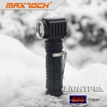 Maxtoch LIGHTPEA aço inoxidável Clip bateria 18650 Vertical LED Torch