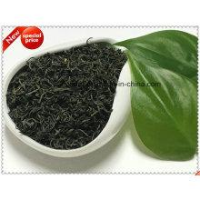 Chá verde local de folhas não poluídas