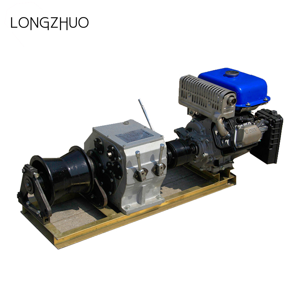 Portable Electrical Engine Powered Wire Rope Hoist Winch
