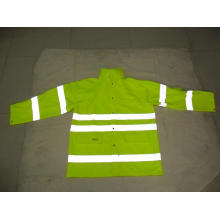 Hi Visibility  PU Raincoat Rain Suit