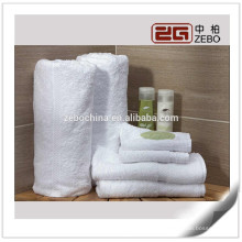 100% Baumwolle waschbar Gute Qualität 32s Weiß Luxus Hotel Handtücher Großhandel