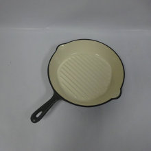 Enamel Round Cast Iron Fry Pan