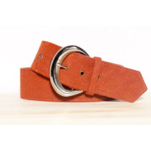 Women fake tan suede belt