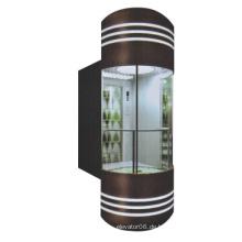 Energiesparender Panorama-Aufzug mit 1 m / s und 1,75 m / s Geschwindigkeit