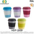 Taza de café de fibra de bambú biodegradable del diverso color 2016 (HDP-2009)