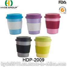 Tasse de café en fibre de bambou biodégradable de différentes couleurs 2016 (HDP-2009)