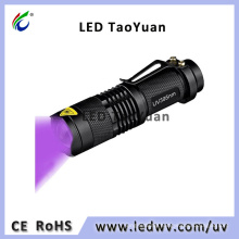 395nm 3W UV LED Blacklight Flashlight Mini Torch