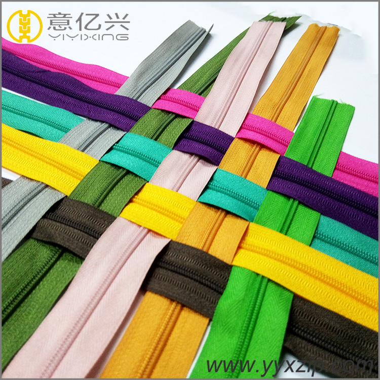 No.5 Colorful Nylon Zipper