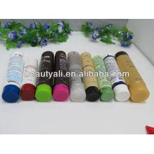 Tubo de embalagem cosmética com três camadas de tampa
