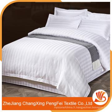 Tissu en tissu de lit d'hôtel 100% polyester de qualité supérieure