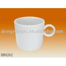 Por atacado copo de caneca de café de porcelana branca