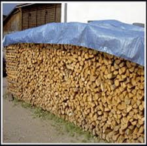 PE Tarpaulin Fabric Wood Cover