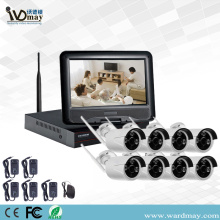 "8CH 1.0 / 2.0MP Wifi NVR Kits tare da 10 ""Monitor"