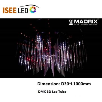 DMX Star Falling RGB Tube Light Madrix 컨트롤