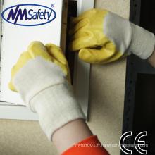 NMSAFETY nitrile enduit gants en caoutchouc industriels EN 388 3111
