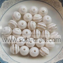 Striped White 500Pcs 10MM Latest Design Bracelet Crystal Necklace Beads For African Jewelry Set
