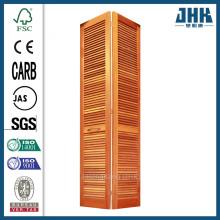 JHK Smooth Full Louver Pine Closet Bi-fold Door