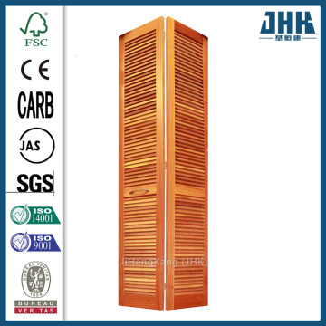 JHK Smooth Full Louver Pine Closet Bi-fold Door