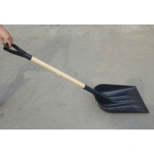 Wooden Handle Plastic Snow Shovel (QFG-S102)