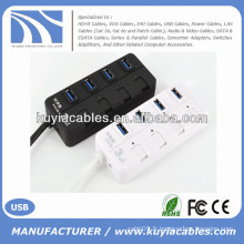 Mini prise USB 3.0 à 4 ports Support 5 Gb / s Single On / Off Compatible avec USB3.0 / USB2.0 / 1.1