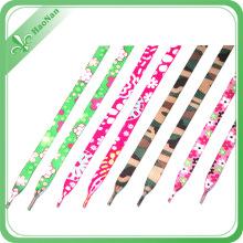 Gute Qualität Stoff Material flache elastische Schnürsenkel mit Kunststoff-Clip
