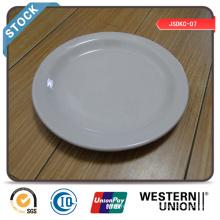Assiette de repas de 7 po (bord étroit) en stock avec prix bon marché