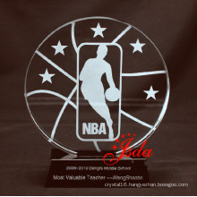 NBA Crystal Glass Trophy Craft for Basketball