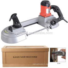 680w Vitesse Variable Métal / Acier / Bois Cutting Portable Mini Band Saw Machine Prix