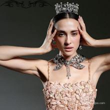 König und Königin Krone Tiaras Pround Queen's Pure Diamong Crown