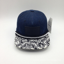 Denim Thread decorado impresión Brim Snapback Cap (ACEW155)