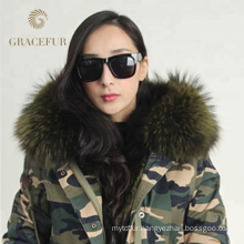 Reasonable price winter luxury fur lining real fur parka
