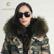 Разумные цены зима роскошный мех подкладка натуральный мех куртка