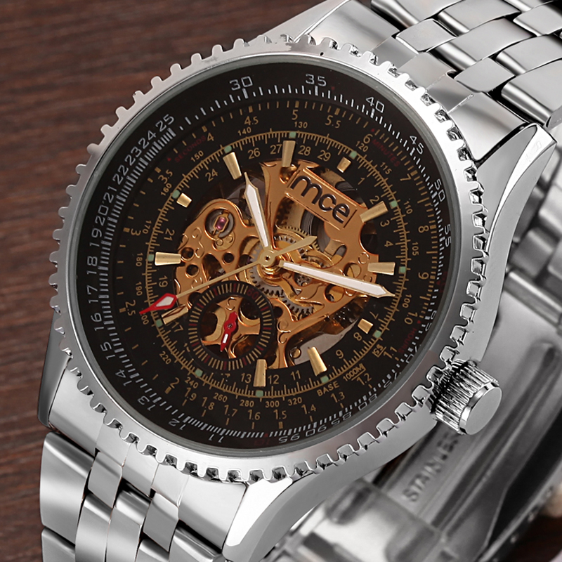 2016 fashion luxury 30m water resistant automatic watch