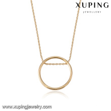 43772 dubai design light weight gold necklace sets fashion simple ring pendant gold plated jewelry necklace