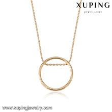 43772 dubai projeto peso leve conjuntos de colar de ouro moda simples anel pingente banhado a ouro colar de jóias