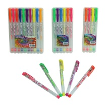 High Quality Highlighter/ Glitter Gel Ink Pen Set with PP Box M-1503