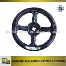 Estampación del volante con el centro D para la válvula