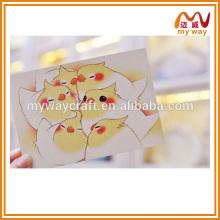 Прекрасная маленькая птица ручной работы, поздравительная открытка, поздравительная открытка, дешевые подарки для детей